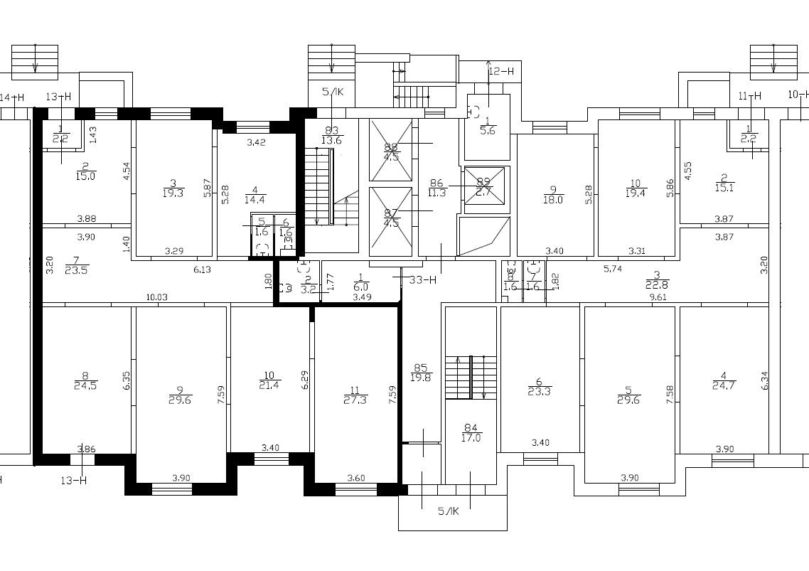 Планировка Коммерческое помещение площадью 180.4 кв.м в ЖК «Медный всадник»